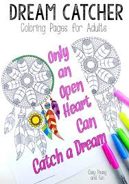 Small Picture Dream Catcher Coloring Pages for Adults Easy Peasy and Fun
