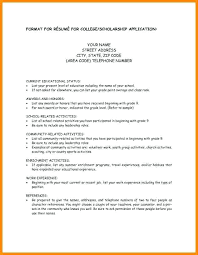 Extended Resume Template Scholarship Resume Template Airexpresscarrier Com