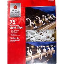 C9 Christmas Light Gutter Clips Home Accents Holiday All Purpose Light Clips 75 Count You