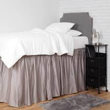 Light Grey Bed Skirt Full Light Grey Soft Loft Duvet Cover And Sham Set Twin Xl