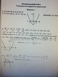 Алгебра Контрольная работа Вариант ГДЗ Тест контроль  Алгебра Контрольная работа 4 Вариант 1