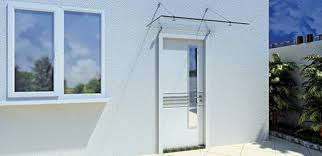 glass door canopy