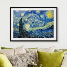Bild Mit Rahmen Vincent Van Gogh Sternennacht Querformat 34