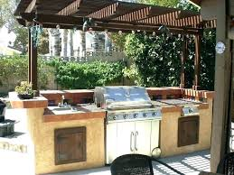outdoor grill prep station