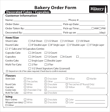 Bakery Order Form Template Free Cablocommongroundsapexco