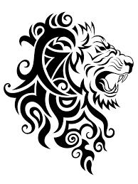 лев тату трайбл царь орнамент тату эскиз тату татуировки