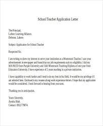Letter Of Acceptance Sample School Sample Application Letter For Teacher In Private School Writings