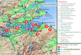 edinburgh map  top attractions in the greater edinburgh metro