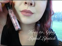 how to apply liquid lipstick kylie