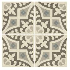 Rococo Decorative Wall Tile Original Style tiles Romanesque Light Blue Light Grey and Dark 7