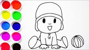 Small Picture Cmo Dibujar y Colorear Pocoyo de Arco Iris Dibujos Para Nios