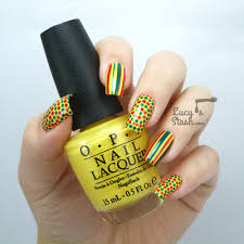 Bring on the summer! Fun nail art design with OPI Brazil - Lucy's ...
