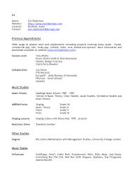musician resume cover letter sample cv english resume musician resume cover letter preparing bio resume cv cover letter peabody institute cover letter samples for