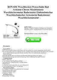 Bonade Waschbecken Wasserhahn Bad Armatur Chrom Mischbatterie