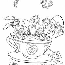 Small Picture Mad Hatter Having Tea Party Coloring Page Color Luna