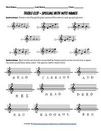 I haven't picked up a. Spelling Words With Note Names Treble And Bass Clef 2 Pages By Jacob Nielsen