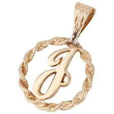 pre owned 9ct yellow gold initial j pendant jewellery from william may jewellers uk