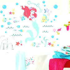 mermaid wall stickers little mermaid wall decals as well as the little mermaid underwater fish wall
