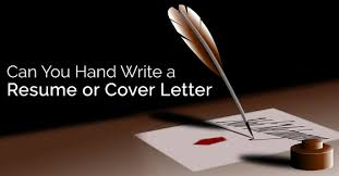 handwritten cover letters can you hand write a resume and cover letter wisestep