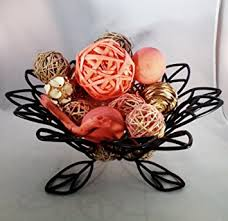 Red Decorative Balls For Bowls Amazon Jodhpuri Inc Coral Decorative Spheres Rattan Twig 13