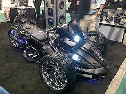 tricked out can am bikes can am spyder with massive audio