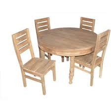 round wood outdoor table. Brilliant Wood Teak Wood Round 4 Seater Dining Table Set Throughout Round Wood Outdoor Table