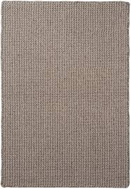 crossweave wool silver grey natural loom hooked rug