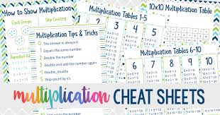 Multiplication Cheat Sheets: Printable Multiplication Tips and Tricks