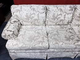 Shuford Furniture Brocade Queen Sleeper Sofa | United Country Lewis Auction  & Estate Services