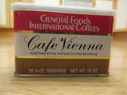 Orange cappuccino italina style coffee drink mix. Cafe Vienna General Foods International Coffee 10 Oz Tin 1980 S 8 99 Picclick