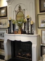 candle holders for fireplace mantel ideas