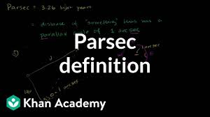 How Many Light Years In A Parsec Parsec Definition Video Stellar Parallax Khan Academy