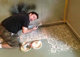 painted concrete floors stencil