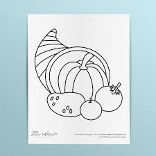 Upper & lowercase letters heart matching activity for preschoolers. Cornucopia Coloring Page Downloadable Printables For Kids Flow And Grow Kids Yoga