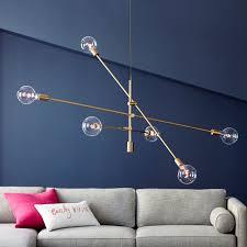 modern chandeliers west elm