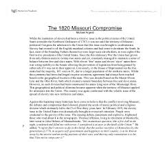 the missouri compromise a level politics marked by  document image preview
