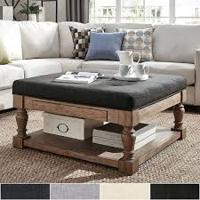 tufted coffee table ottomans best leather