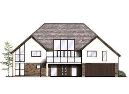 Glazed Upside Down House   Homebuilding  amp  RenovatingDrawing of a two storey house design   glazed sections