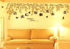 tree wall decal with picture frames family photo frame