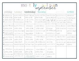 Monthly Meal Planner Printable Dinner Calendar Template Gotostudy Info