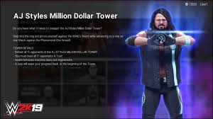 2k brings a little bit of arcade nostalgia with their latest mode in wwe 2k19 it was announced that tower mode is ing to the uping wwe game