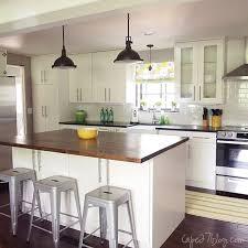 single wall kitchen with island via Remodelaholic.com