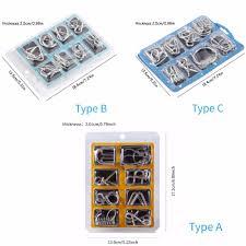 <b>8PCS</b>/Set classic Metal Puzzle Wire IQ Mind Brain Teaser Puzzles ...