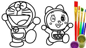 Small Picture How to Draw Doraemon Dorami Coloring Pages Kids Drawing for