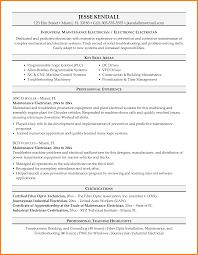 Industrial Maintenance Resume Examples