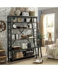 industrial style furniture. Beautiful Furniture Furniture Of America Diego Industrial Style Black 6tier Display Shelf With  Ladder Powder With