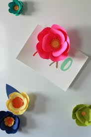 Flower Out Of Paper 3d Paper Flower Magnets With Cricut Everyday Jenny