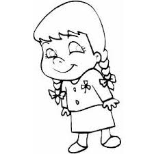 Small Picture Little Girl Coloring Sheet