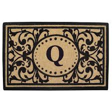 Heavy Duty Coir Monogrammed Q Door Mat-O2325Q - The Home Depot