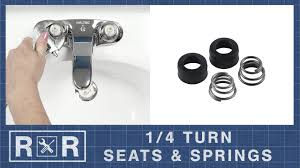 1 4 turn seats springs repair and replace 2 handle bathroom faucet